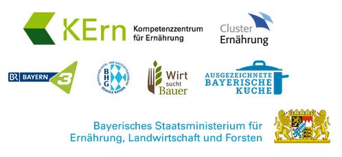 Logos der unterstützenden Partner aus dem Ressort des StMELF, der Verbände und des Rundfunks